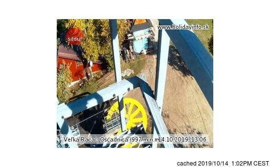 Veľká Rača - Oščadnica webkamera ze včerejška ve 14 hod.