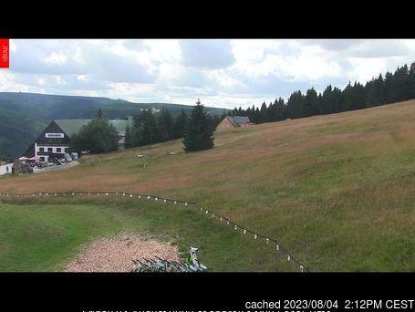 dün saat 14:00'te Velká Úpa'deki webcam