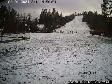 Veľké Ostré webcam at 2pm yesterday