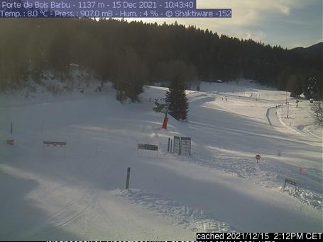 dün saat 14:00'te Villard-de-Lans'deki webcam