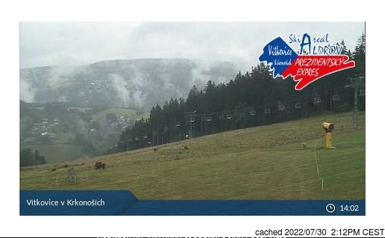 Vítkovice - Aldrov webcam at 2pm yesterday