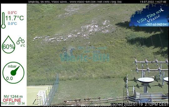 Vlašić webcam at 2pm yesterday