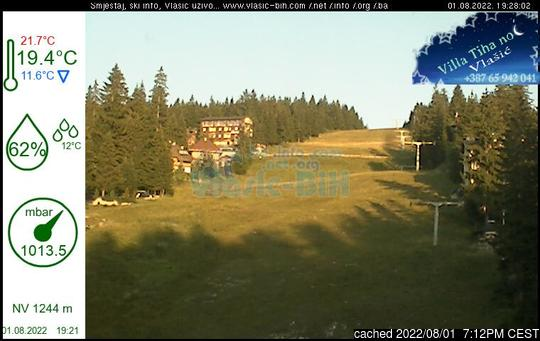 Live webcam per Vlašić se disponibile
