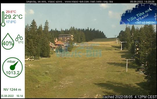 Live Snow webcam for Vlašić