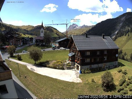 Warth-Schröcken webcam at lunchtime today