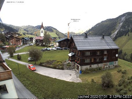 Warth-Schröcken webcam at 2pm yesterday