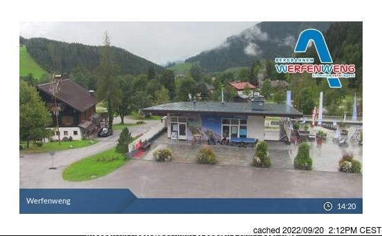 Werfenweng webcam om 2uur s'middags vandaag