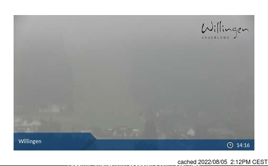 Willingen-Upland Webcam gestern um 14.00Uhr