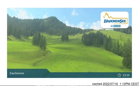 Zauchensee webcam at lunchtime today