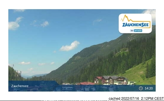 Zauchensee Webcam gestern um 14.00Uhr