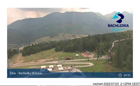 Ždiar - Bachledova Dolina webcam at 2pm yesterday