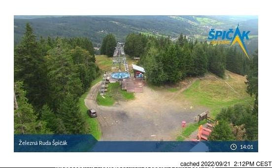 Železná Ruda Špičák webcam hoje à hora de almoço