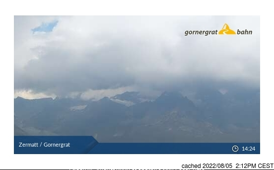 Zermatt webcam at lunchtime today