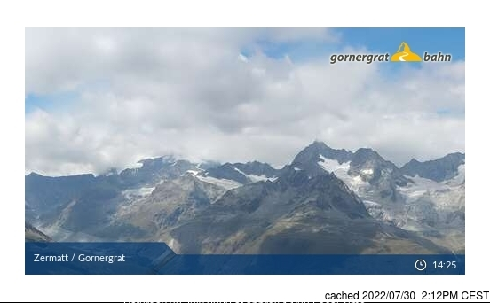 Zermatt webcam at 2pm yesterday