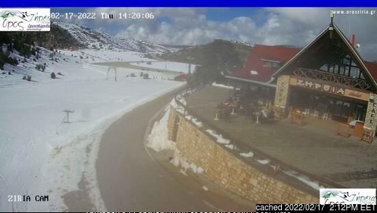 Ziria of Corinth Ski Center webcam at 2pm yesterday