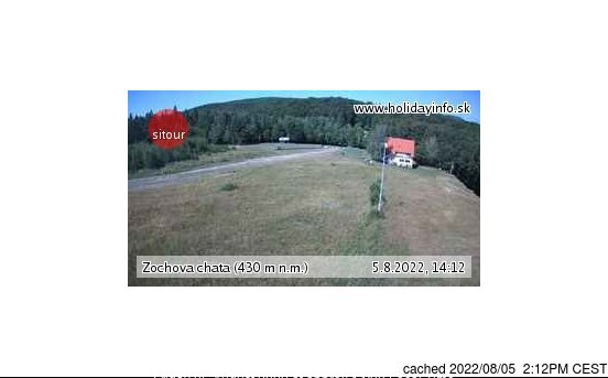 Zochova chata - Piesok webcam at lunchtime today