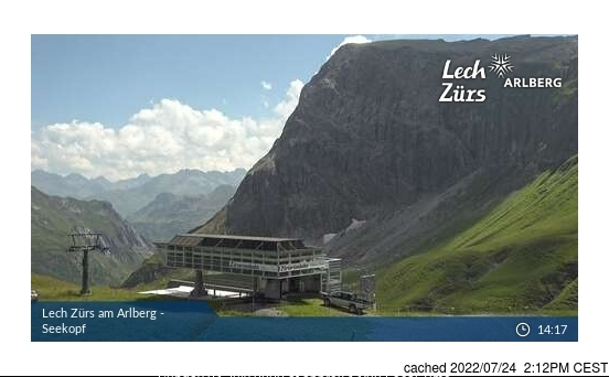 Zurs webcam at 2pm yesterday