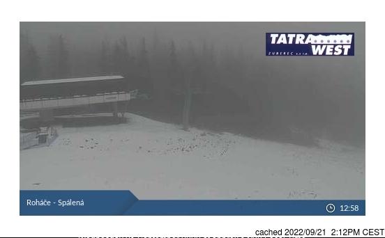 Roháče - Zverovka/Spálená dolina webcam at lunchtime today