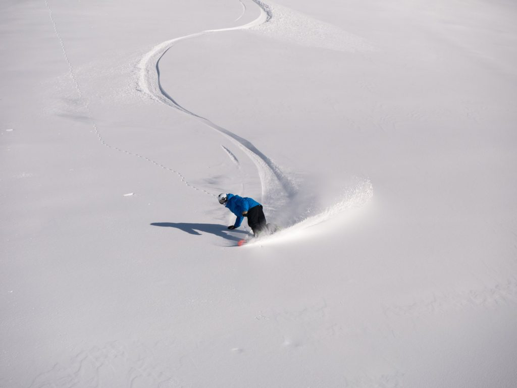 Pyrenees Snowboarder